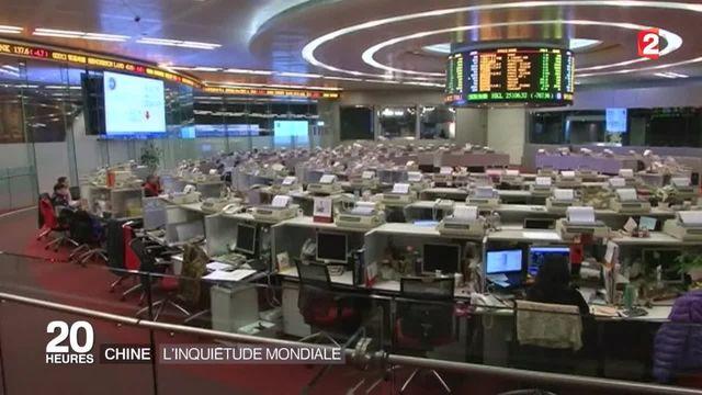La bourse chinoise préoccupe l'économie mondiale