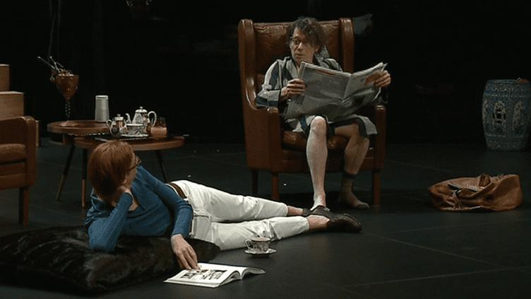 """Mathieu Amalric et Micha Lescot dans """"La collection""""  (France 3 Culturebox Capture d'écran)"""