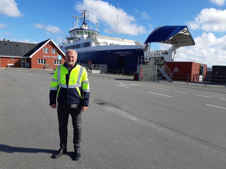 Christen Kruse, le directeur de Samsø Ferry, une compagnie maritime qui fonctionne au gaz naturel. (JEROME JADOT / RADIO FRANCE)