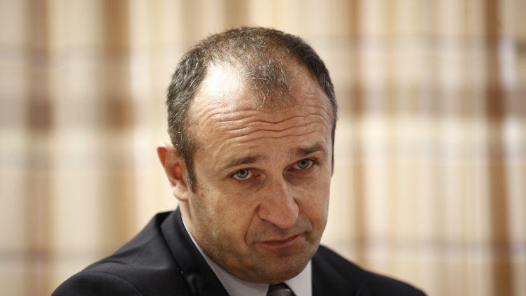 Philippe Saint-André, sélectionneur du XV de France, le 11 janvier 2013 à Marcoussis (Essonne). (MAXPPP)