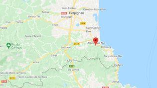 Argelès-sur-Mer dans les Pyrénées-Orientales. (GOOGLE MAPS)