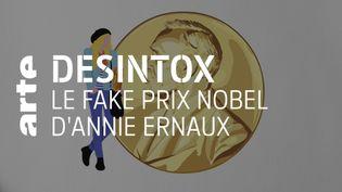 Désintox. Non, l'écrivaine Annie Ernaux n'a pas obtenu le prix Nobel de littérature (ARTE/2P2L)