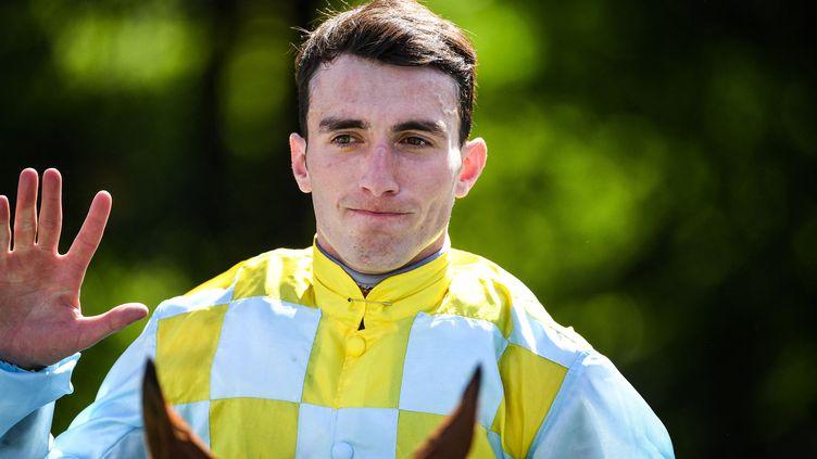 Le jockey Pierre-Charles Boudot, à Chantilly, le 16 juin 2019. (MATTHIEU MIRVILLE / DPPI / AFP)