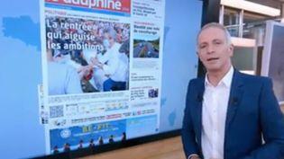 Comme chaque jour, la rédaction du 13 Heures se penche sur les grands titres de la presse quotidienne régionale. (FRANCE 2)