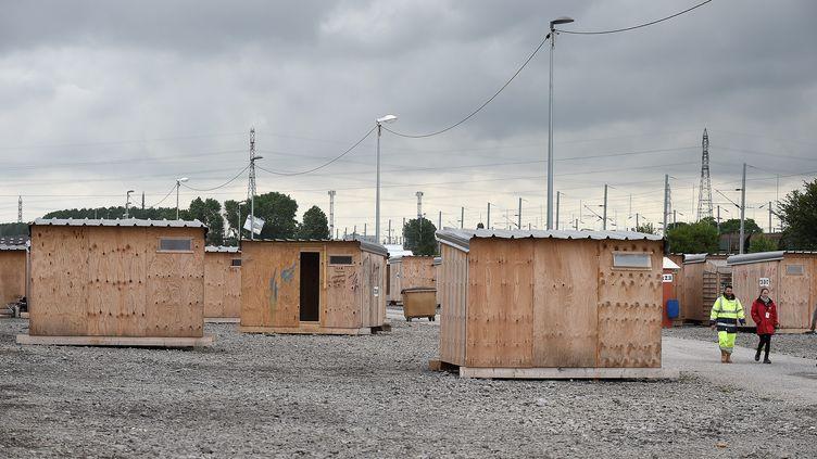 Photo d'illustration du camp de la Linière, à Grande Synthe (Nord), le 13 juillet 2016. (MAXPPP)