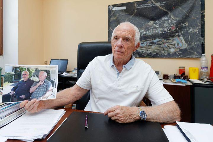 L'adjoint au maire de Signes (Var), Alain Reichardt, le 6 août 2019. (DOMINIQUE LERICHE / MAXPPP)