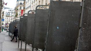 Des panneaux d'affichage électoralen vue des élections européennes dans une rue de Paris, le 7 mai 2019. (MAXPPP)