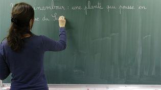 Enseignante dans une école primaire. (GODONG / BSIP)