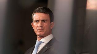 Le Premier ministre, Manuel Valls, lors d'un déplacement à Amman (Jordanie), le 11 octobre 2015. (WITT / SIPA)
