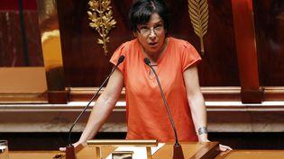 Christine Pirès-Beaune, à l'Assemblée nationale, le 14 juillet 2014. (FRANCOIS GUILLOT / AFP)