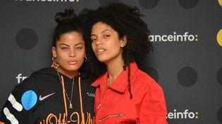 Leschanteuses franco-cubaines, Lisa-Kaindé et Naomi Diaz, plus connues sous le nomd'Ibeyi. (RADIO FRANCE / JEAN-CHRISTOPHE BOURDILLAT)