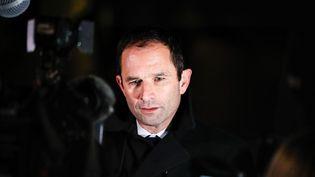 Le leader de Génération.s, Benoît Hamon, lors d'un rassemblement contre l'antisémitisme à Paris, le 19 février 2019. (LAURE BOYER / AFP)