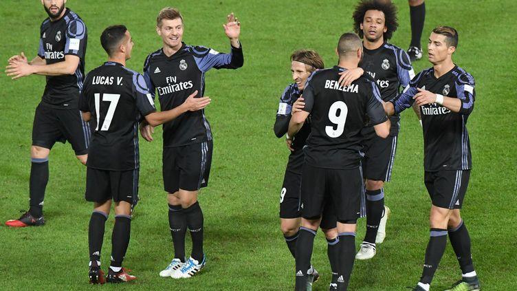 Buteur en première période, Benzema permet au Real d'accéder à la finale du Mondial des clubs. (KEITA IIJIMA / YOMIURI)