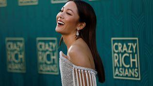 """L'actrice américaine Constance Wu à la première de """"Crazy Rich Asians"""" à Los Angeles, le 7 août 2018. (MARIO ANZUONI / REUTERS)"""