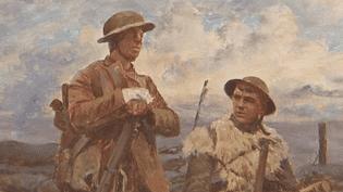 Tableau de Joseph-Félix Bouchor, exposé à Péronne (Somme)  (France 3 / Culturebox)