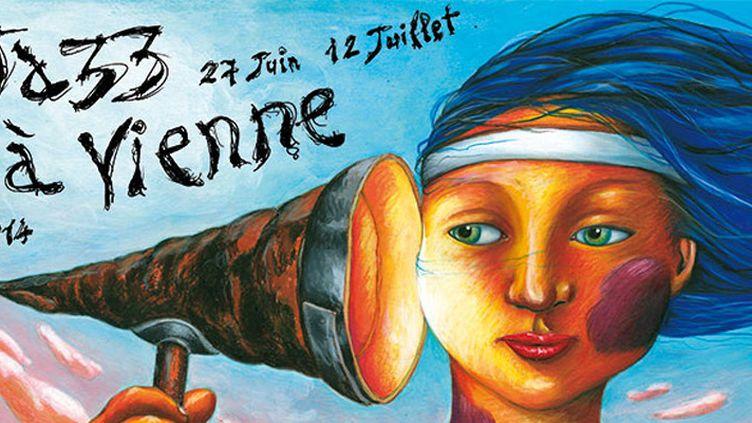 Vue partielle de l'affiche de Jazz à Vienne  (Jazz à Vienne)
