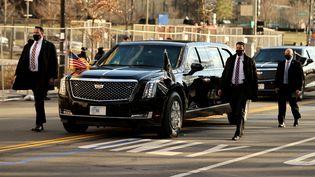 La voiture sécurisée de Joe Biden lors de son investiture le 20 janvier 2021. (CHIP SOMODEVILLA / GETTY IMAGES NORTH AMERICA)