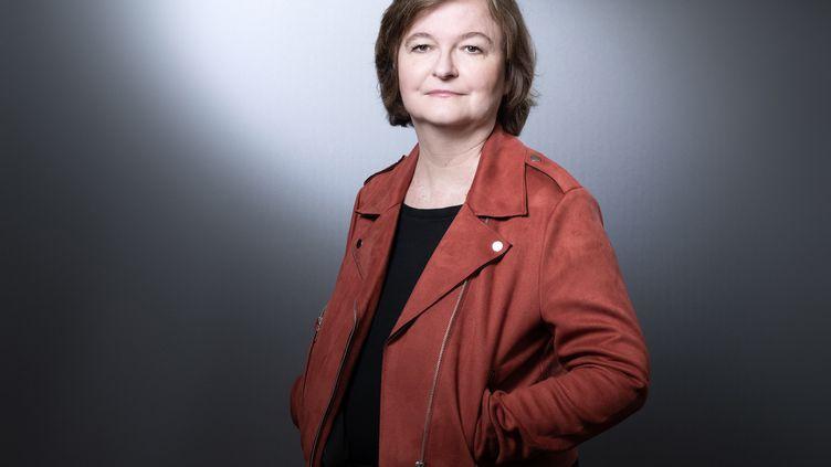 La tête de liste LREM aux Européennes, Nathalie Loiseau, à Paris, le 25 mars 2019. (JOEL SAGET / AFP)