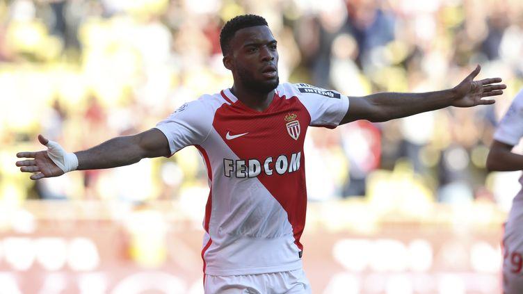 Le latéral droit de l'AS Monaco, Thomas Lemar, est plus que courtisé par Arsenal.  (VALERY HACHE / AFP)