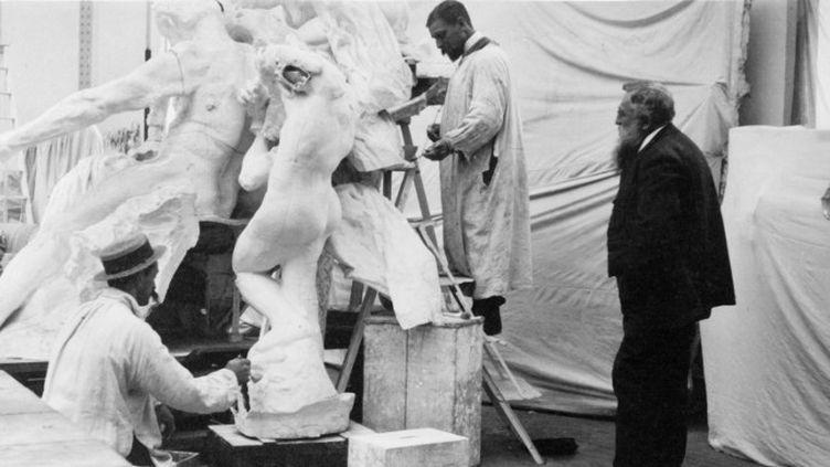 Auguste Rodin en 1896.  (Archives-Zephyr / Leemage)