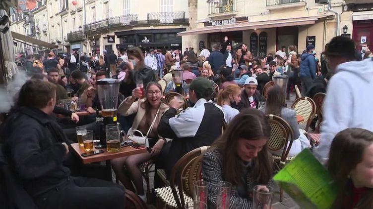 À Tours (Indre-et-Loire), jeudi 20 mai. (CAPTURE ECRAN FRANCE 3)