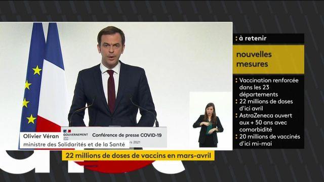 Covid-19 : Olivier Véran annonce une accélération de la vaccination ce week-end
