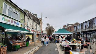 Une rue deEbbw Vale,la ville galloisequi avait le plus largement voté en faveur du Brexit. (RICHARD PLACE / RADIO FRANCE)