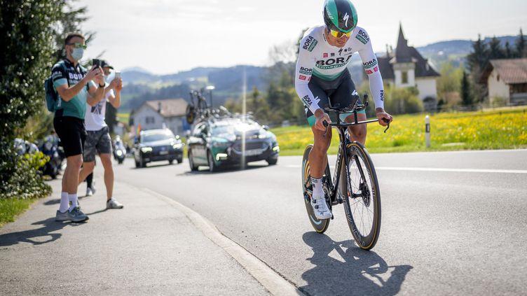 Peter Sagan sur le Tour de Romandie. (FABRICE COFFRINI / AFP)