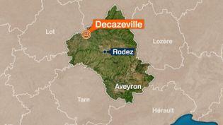 Un policier a été tué, le 10 avril 2015, lors d'un contrôle routier, près de Decazeville (Aveyron). (FRANCE 3 MIDI-PYRÉNÉES )