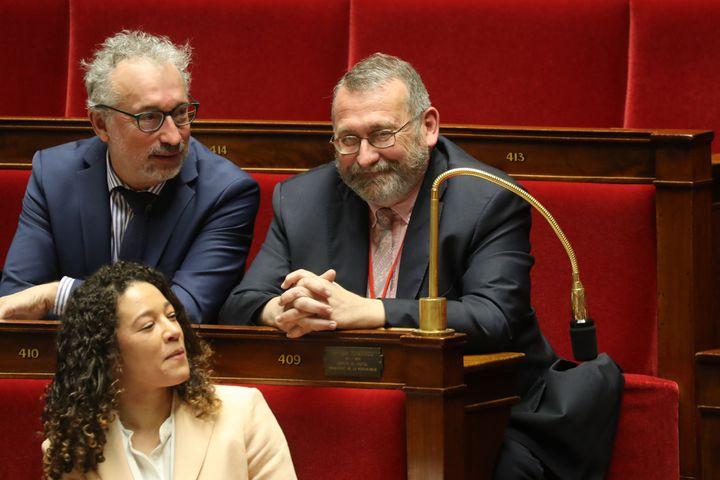 Le député LREM Joël Giraud (à droite) est nommé secrétaire d'Etat chargé de la Ruralité. (LUDOVIC MARIN / AFP)