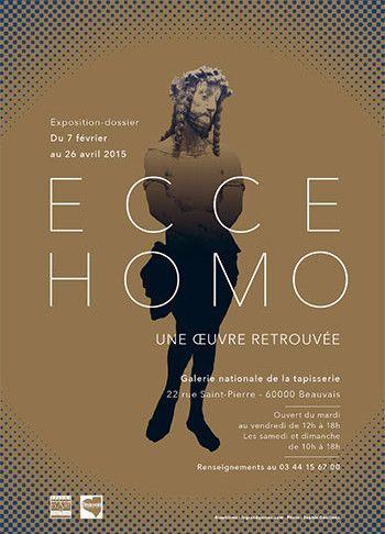 L'affiche de l'exposition Ecce Homo, une oeuvre retrouvée  (Musée national de la tapisserie )