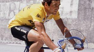 Bernard Hinault, quintuple vainqueur du Tour de France, le 21 juillet 1982, lors de la 17e étape entre Bourg d'Oisans et Morzine. (AFP)