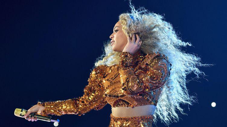 """Beyoncé en concert sur le """"Formation tour"""" à Houston (Texas) le 7 mai 2016.  (Larry Busacca/ Getty Images)"""