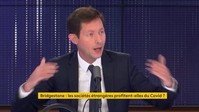 François-Xavier Bellamy sur franceinfo le 26 septembre 2020. (FRANCEINFO / RADIOFRANCE)