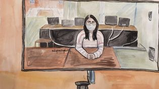 Sonia M., entendue comme témoin devant la cour d'assises spéciale de Paris, au procès des attentats de janvier 2015, le 23 octobre 2020. (ELISABETH DE POURQUERY / FRANCEINFO)