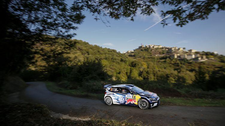 Sebastien Ogier sur le rallye de Corse; (BASTIEN BAUDIN / AUSTRAL)