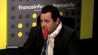 Jean-Frédéric Poisson, président du Parti chrétien-démocrate et ancien candidat à la primaire de la droite et du centre, le 13 mars 2018. (RADIO FRANCE / FRANCEINFO)