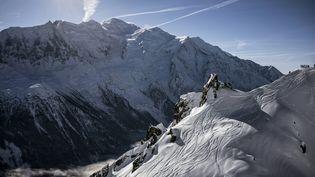Une vue du Mont Blanc, le 5 février 2016. (JEFF PACHOUD / AFP)