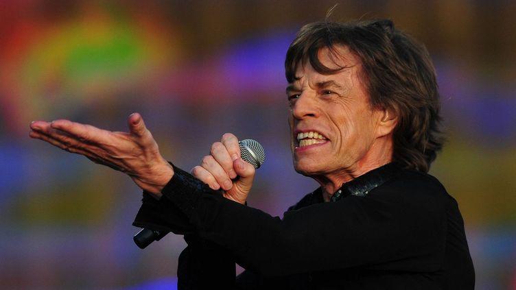 Mick Jagger à Hyde Park le 14 juillet 2013  (CARL COURT / AFP)
