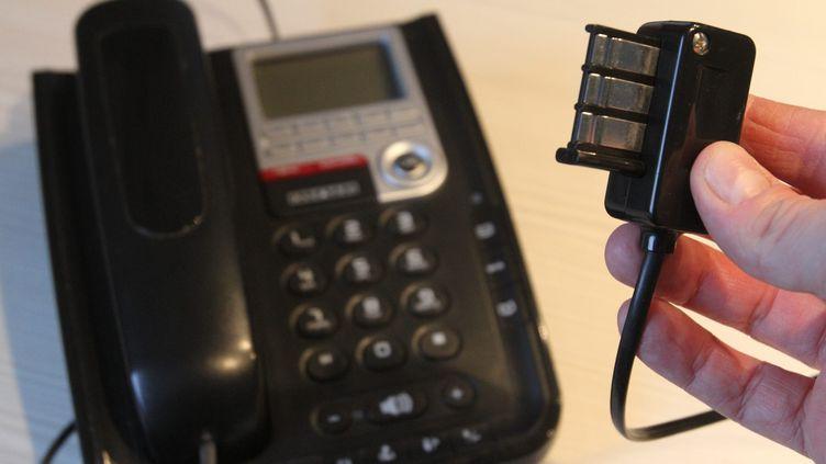 """Orange a annoncé la fin du """"réseau téléphonique commuéé"""", support des services de téléphonie traditionnels. (MAXPPP)"""