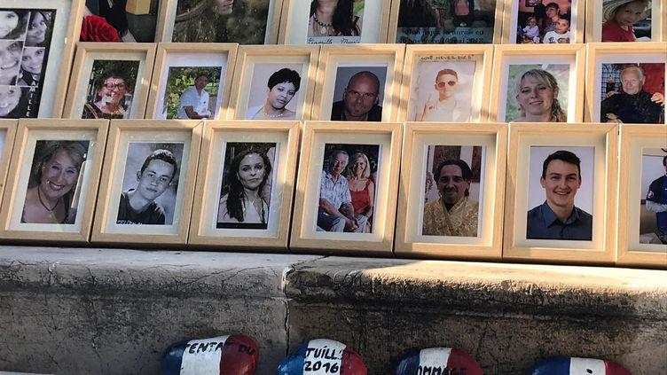 Le mémorial en hommage aux victimes de l'attentat du 14 juillet 2016, dans les jardins de la villa Masséna à Nice. (MAXIME BACQUIÉ / FRANCE-BLEU AZUR)