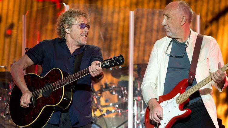 Roger Daltrey et Pete Townshend des Who au festival de Glastonbury (Royaume-Uni, 28 juin 2015)  (Oli Scarff / AFP)