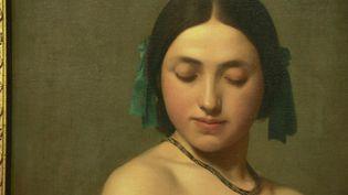 "Hippolyte-Jean Flandrin, ""Jeune fille dite La Florentine"", 1840 (France 3 Auvergne-Rhône-Alpes)"