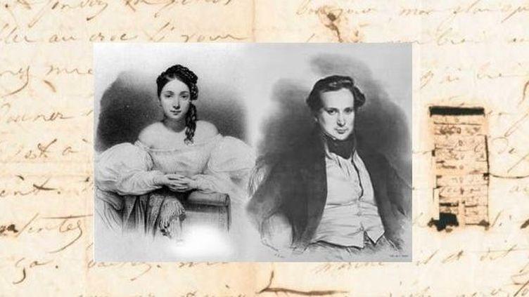 Juliette Drouet et Victor Hugo jeunes  (DR)