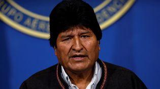 Le président bolivien Evo Morales à El Alto, en Bolivie, le 10 novembre 2019. (CARLOS GARCIA RAWLINS / REUTERS)