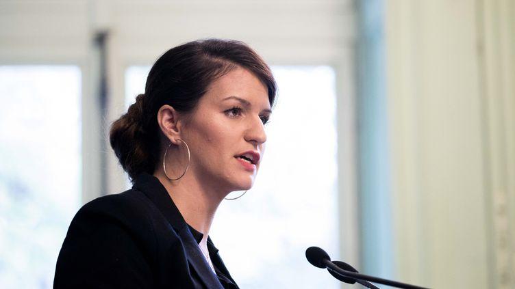 La secrétaire d'Etatà l'Égalité entre les femmes et les hommes, Marlène Schiappa, le 10 octobre 2017 à Paris. (MAXPPP)