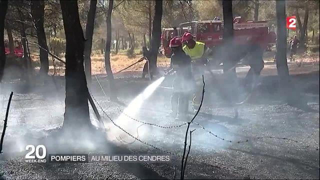 Incendies dans les Bouches-du-Rhône : les pompiers encore mobilisés pour éviter toute reprise de feu