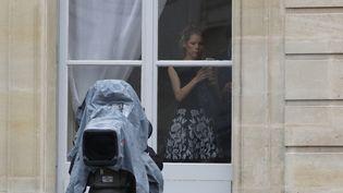 L'avocate Tiphaine Auzière, belle-fille d'Emmanuel Macron, le 14 mai 2017 au palais de l'Elysée à Paris. (PATRICK KOVARIK / AFP)