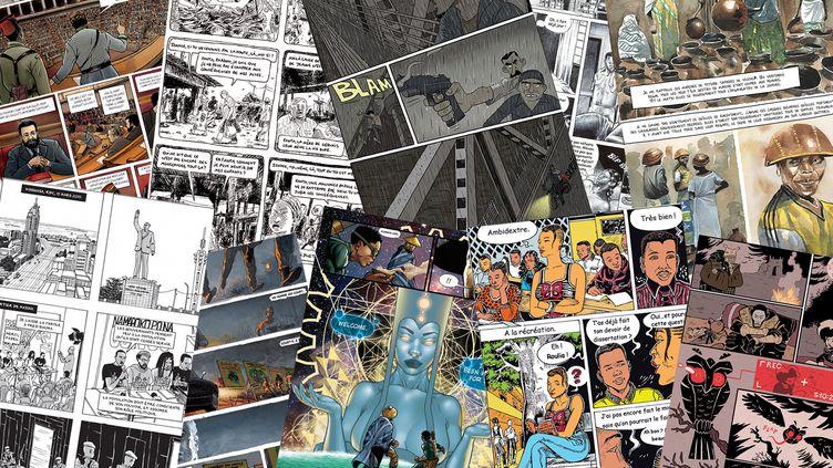 """Expostion : """"Kubuni, les bandes dessinées d'Afrique.s"""" (CITE INTERNATIONALE DE LA BANDE DESSINEE ET DE L'IMAGE D 'ANGOULEME (montage FTV))"""