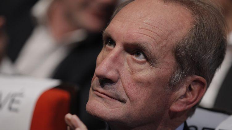 Gérard Longuet, sénateur de la Meuse, le 12 novembre 2012 à Paris,lors d'un meeting de soutien à François Fillon. (PHILIPPE LAVIEILLE / MAXPPP)